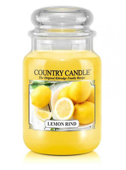 Country Candle - Lemon Rind - Duży słoik (652g) 2 knoty