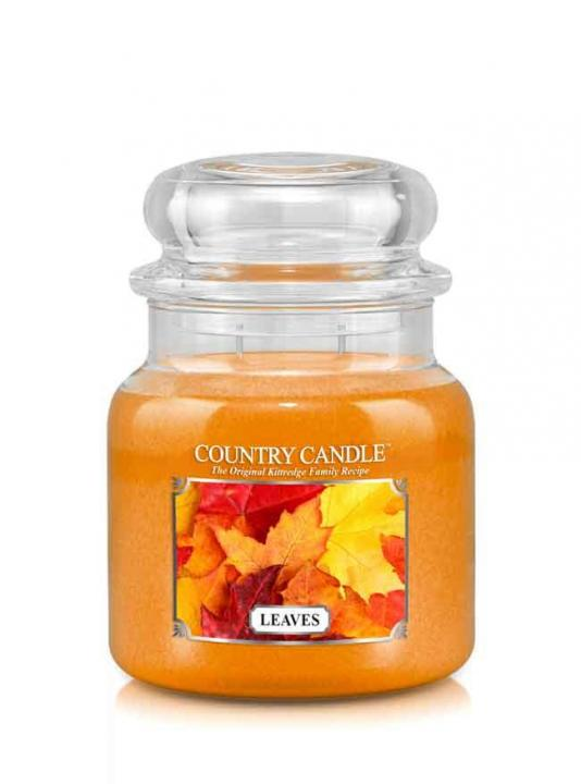Country Candle - Leaves -  Średni słoik (453g) 2 knoty