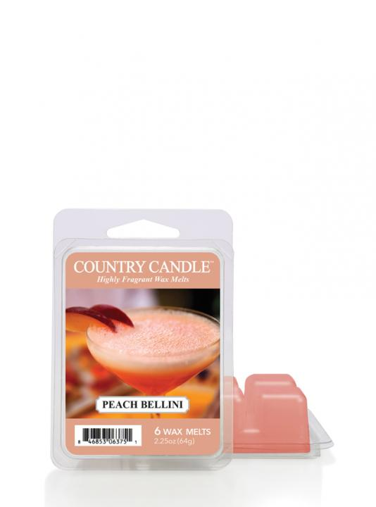 Country Candle - Peach Bellini - Wosk zapachowy potpourri (64g)