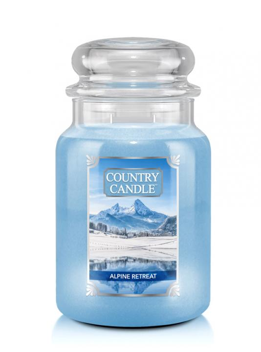 Country Candle - Alpine Retrear - Duży słoik (680g) 2 knoty