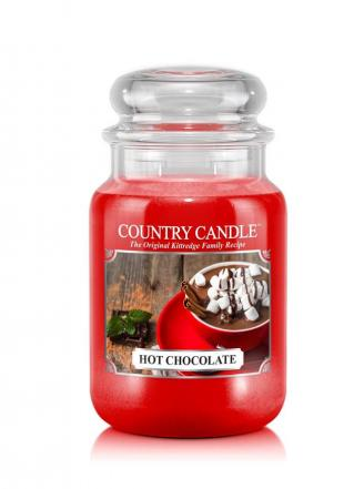 Country Candle  Hot Chocolate  Duży słoik (652g) 2 knoty
