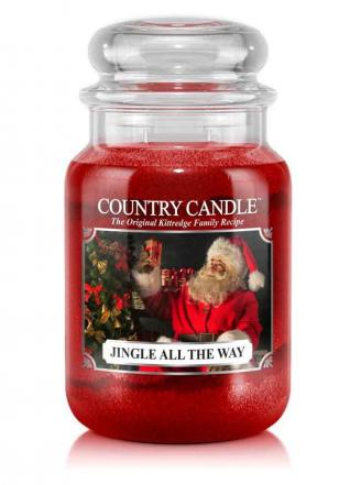 Country Candle  Jingle All The Way  Duży słoik (652g) 2 knoty