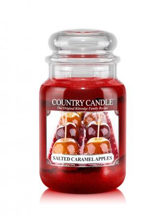 Country Candle  Salted Caramel Apples  Duży słoik (652g) 2 knoty