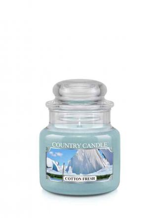 Country Candle  Cotton Fresh   Mały słoik (104g)