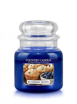 Country Candle  Blueberry Muffin   Średni słoik (453g) 2 knoty