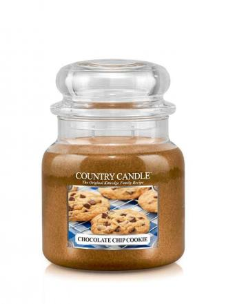 Country Candle  Chocolate Chip Cookie   Średni słoik (453g) 2 knoty