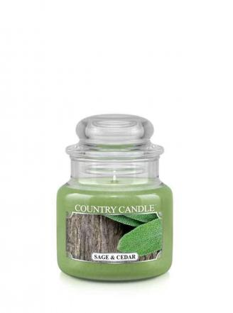 Country Candle  Sage and Cedar  Mały słoik (104g)