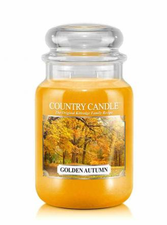 Country Candle  Golden Autumn  Duży słoik (652g) 2 knoty