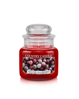 Country Candle  Frosted Cranberries   Mały słoik (104g)
