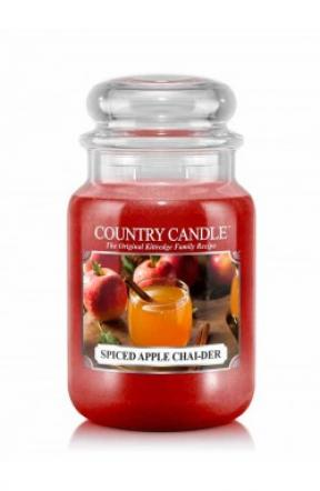 Country Candle  Spiced Apple Chaider  Duży słoik (652g) 2 knoty