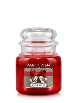 Country Candle  Silver Bells  Średni słoik (453g) 2 knoty