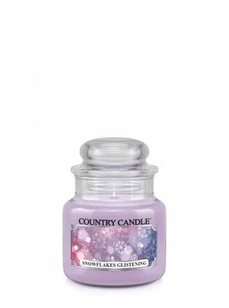 Country Candle  Snowflakes Glistening   Mały słoik (104g)