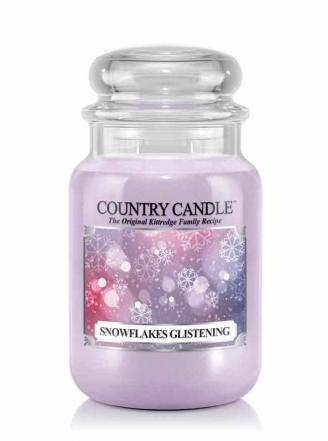 Country Candle - Snowflakes Glistening - Duży słoik (652g) 2 knoty