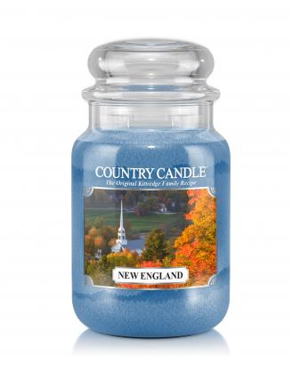 Country Candle  New England  Duży słoik (652g) 2 knoty