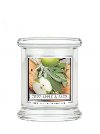Kringle Candle  Crisp Apple & Sage  mini, klasyczny słoik (128g)
