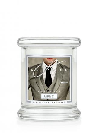 Kringle Candle  Grey  mini, klasyczny słoik (128g)
