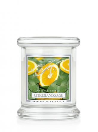 Kringle Candle  Citrus and Sage  mini, klasyczny słoik (128g)