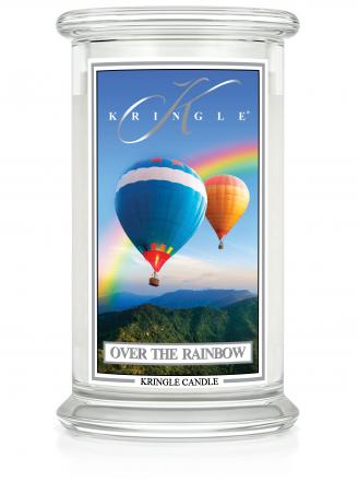 Kringle Candle  Over the Rainbow  duży, klasyczny słoik (623g) z 2 knotami