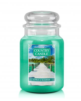 Country Candle  Citrus & Seagrass  Duży słoik (652g) 2 knoty