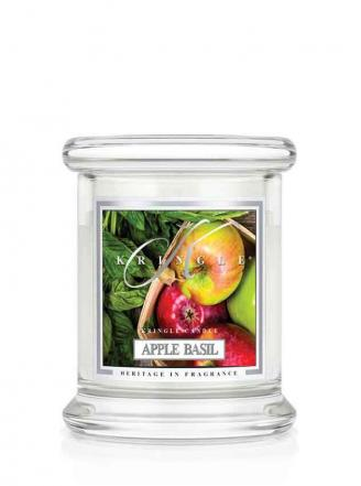 Kringle Candle  Apple Basil  mini, klasyczny słoik (128g)