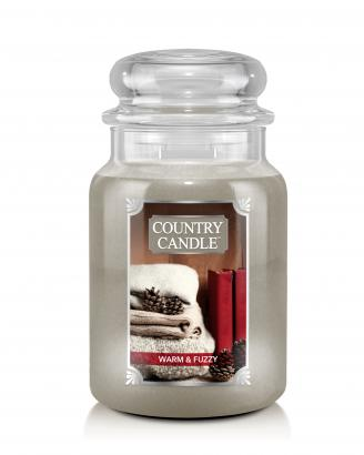 Country Candle  Warm and Fuzzy  Duży słoik (680g) 2 knoty
