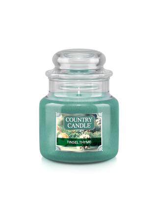 Country Candle  Tinsel Thyme  Mały słoik (104g)