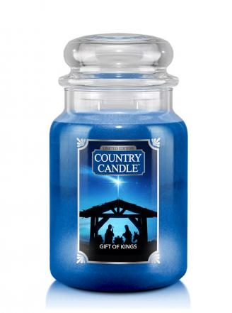 Country Candle  Gift Of Kings   Duży słoik (680g) 2 knoty