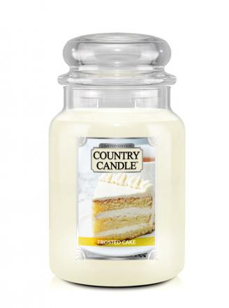 Country Candle  Frosted Cake  Duży słoik (680g) 2 knoty
