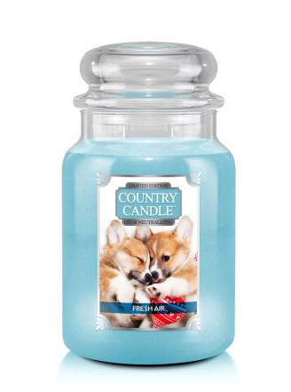 Country Candle  Fresh Air Puppy  Duży słoik (680g) 2 knoty