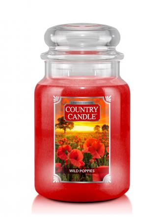 Country Candle  Wild Poppies  Duży słoik (680g) 2 knoty