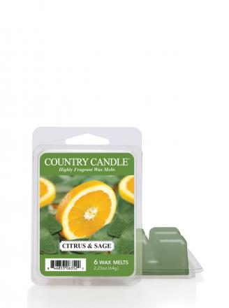 "Country Candle  Citrus and Sage  Wosk zapachowy ""potpourri"" (64g)"