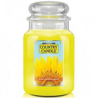 Country Candle  Sunflower Sunrise  Duży słoik (680g) 2 knoty