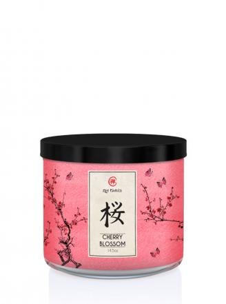 Kringle Candle  Cherry Blossom (Zen)  Tumbler (411g) z 3 knotami