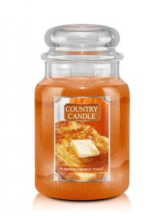 Country Candle  Pumpkin French Toast  Duży słoik (680g) 2 knoty