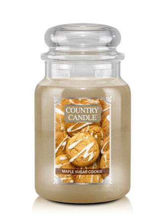 Country Candle  Maple Sugar Cookie   Duży słoik (680g) 2 knoty
