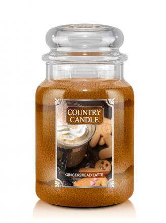 Country Candle  Gingerbread Latte  Duży słoik (680g) 2 knoty