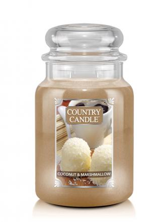 Country Candle  Coconut Marshmallow  Duży słoik (680g) 2 knoty