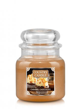 Country Candle  Caramel Chocolate  Średni słoik (453g) 2 knoty
