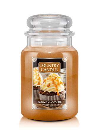 Country Candle  Caramel Chocolate  Duży słoik (680g) 2 knoty