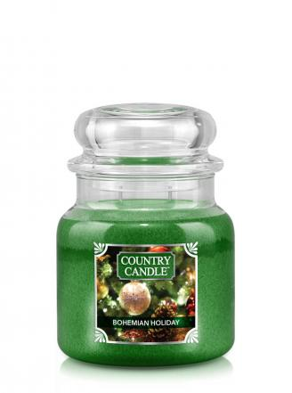 Country Candle  Bohemian Holiday  Średni słoik (453g) 2 knoty