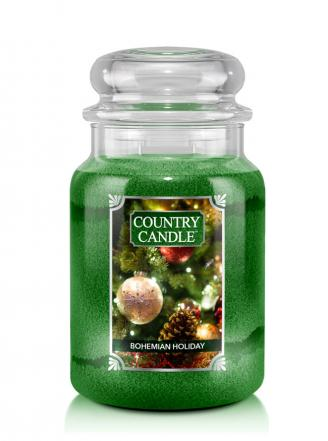 Country Candle  Bohemian Holiday  Duży słoik (680g) 2 knoty