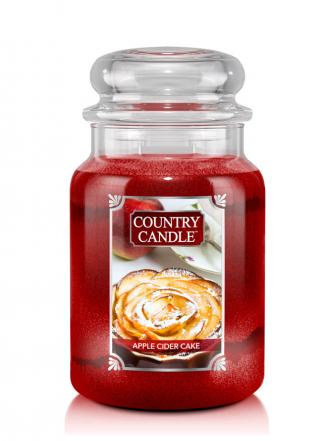 Country Candle  Apple Cider Cake  Duży słoik (680g) 2 knoty