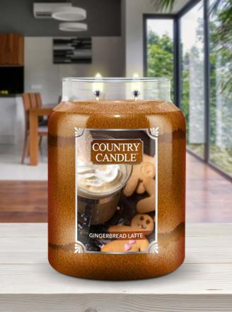 Country Candle - Gingerbread Latte - Duży słoik (680g) 2 knoty