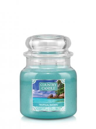 Country Candle  Tropical Waters  Średni słoik (453g) 2 knoty
